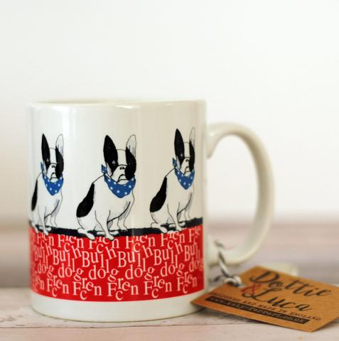 Katy Ferrari Frenchie print mug