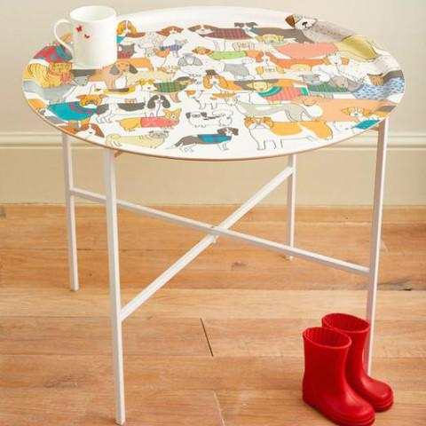 Dog print table