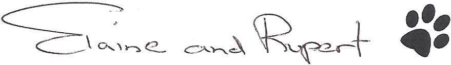 Elaine and Rupert signature