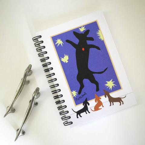 Dachshund print notebook