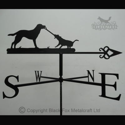 weathervane Labrador and Jack Russell Weathervane