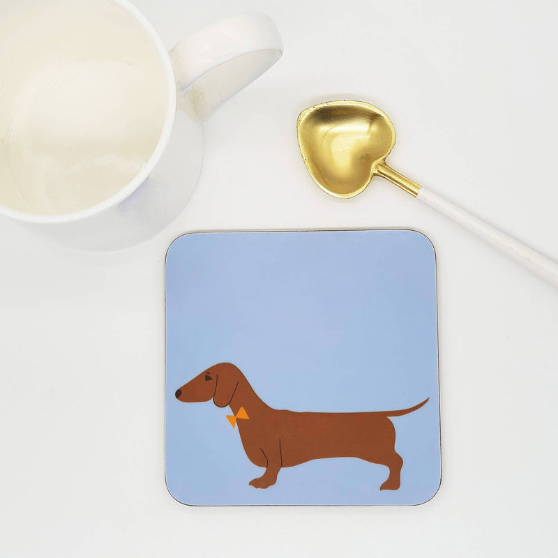 Coasters One coaster Red Dachshund Coaster