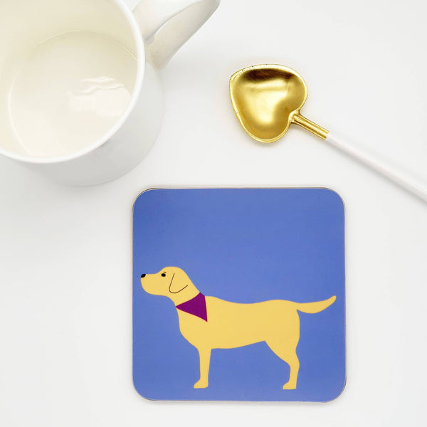 Coasters One coaster - Yellow Lab Yellow Labrador Coaster