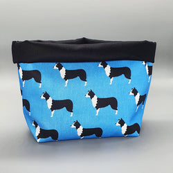Storage Border Collie Fabric Storage Basket
