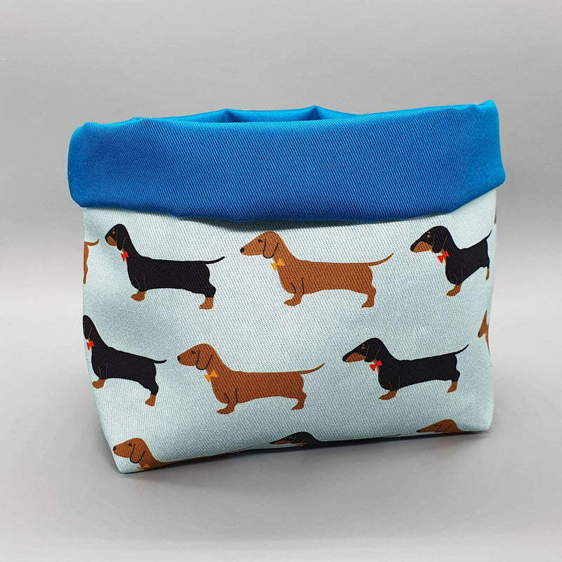 Storage Dachshunds Fabric Storage Basket