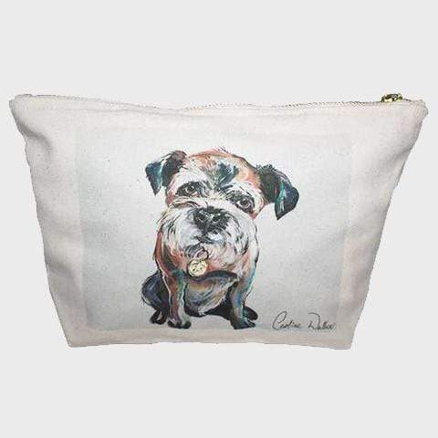 Cosmetic Bag Border Terrier Print Makeup Bag