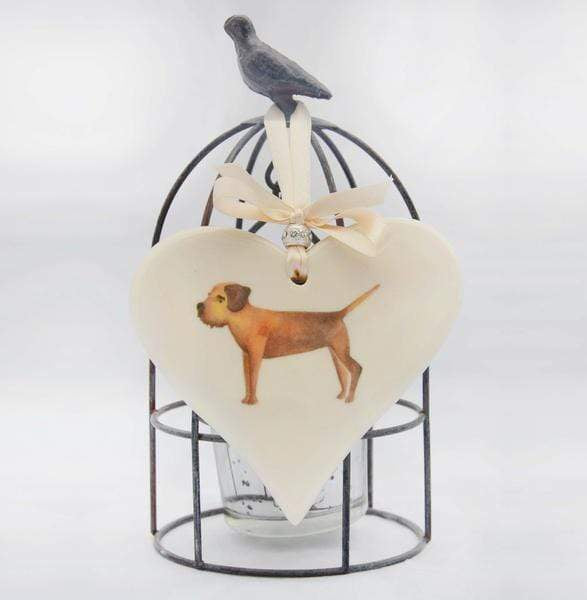 Ceramics Border Terrier Ceramic Hearts (Multiple Breeds Available)