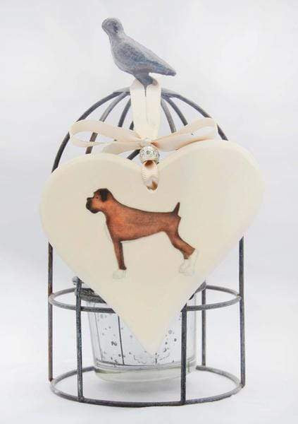 Ceramics Boxer Ceramic Hearts (Multiple Breeds Available)