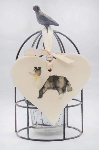 Ceramics Collie Ceramic Hearts (Multiple Breeds Available)
