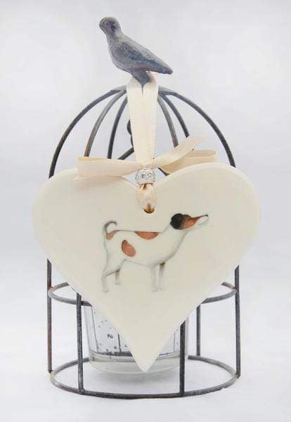 Ceramics Jack Russell Ceramic Hearts (Multiple Breeds Available)