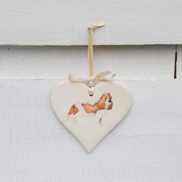 Ceramics Kings Charles Spaniel Ceramic Hearts (Multiple Breeds Available)