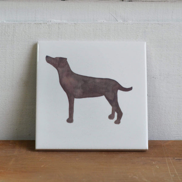 Coasters Brown Labrador Coaster