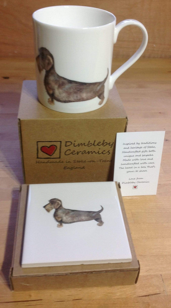 Coasters With matching mug Coaster for Dachshund Dog Lovers