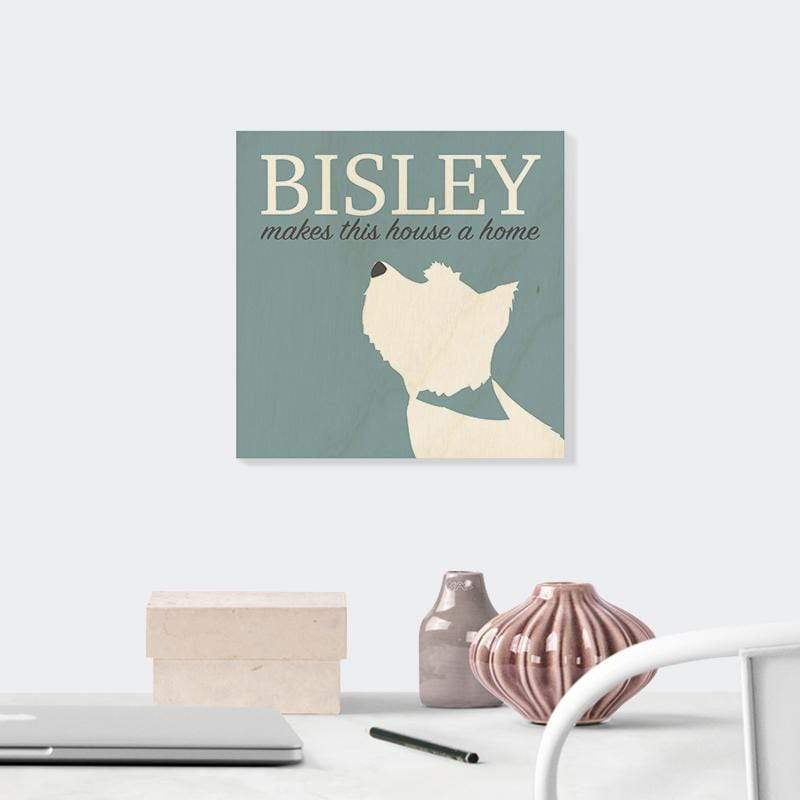 Contemporary Dog Portrait Wooden Print
