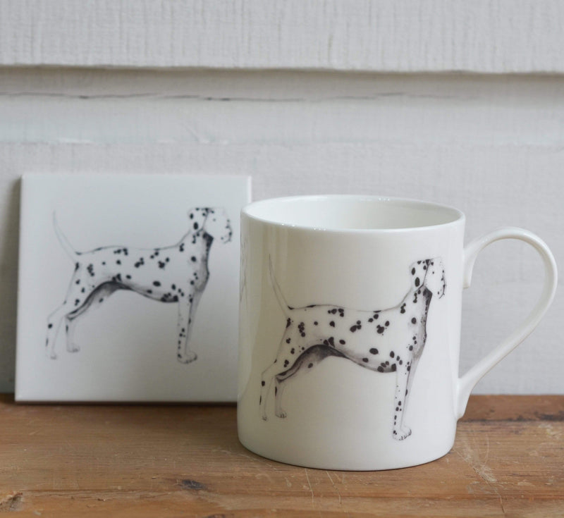 With matching mug Dalmatian Coaster for dog lovers