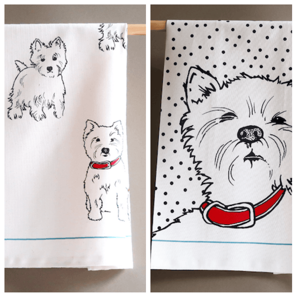 Tea Towel Westie Tea Towels