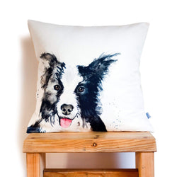 Cushion Cover Only Border Collie Cushion