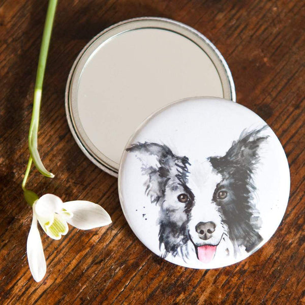 Mirror Collie Dog Pocket Mirror