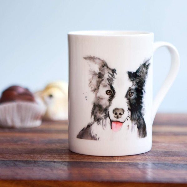 Mug Border Collie Dog Bone China Mug