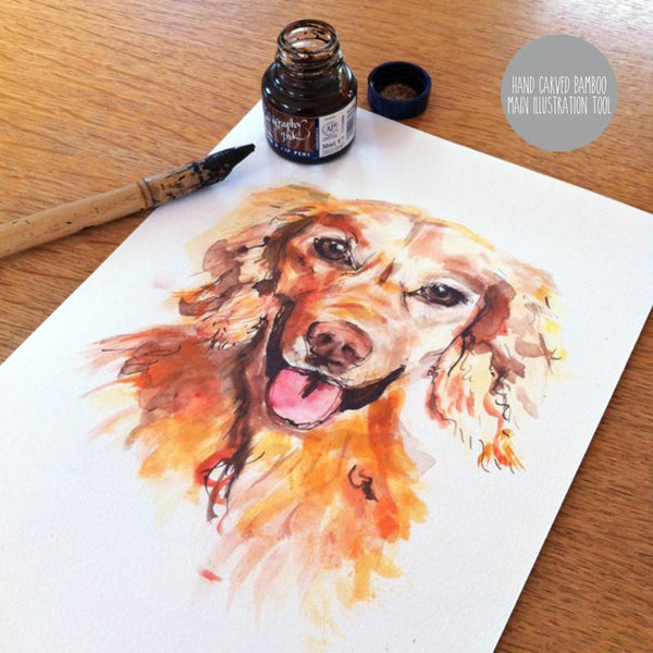 Pet Portrait Unframed Hand Drawn Pet Portrait