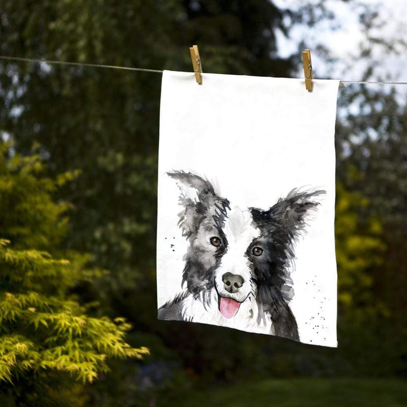 Tea Towel Collie Dog Tea Towel