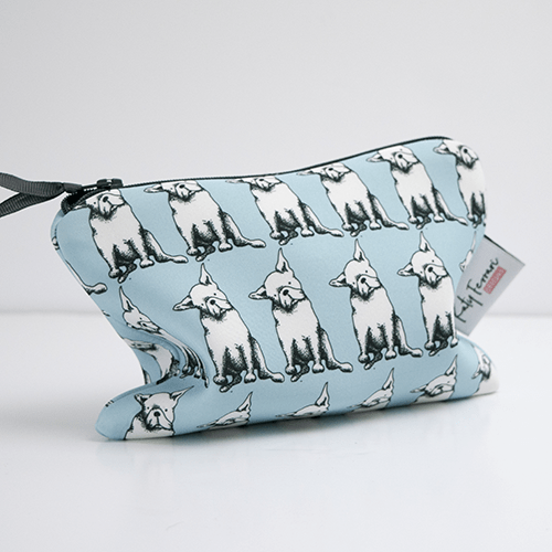 Accessories French Bulldog Make Up Bag with Mirror