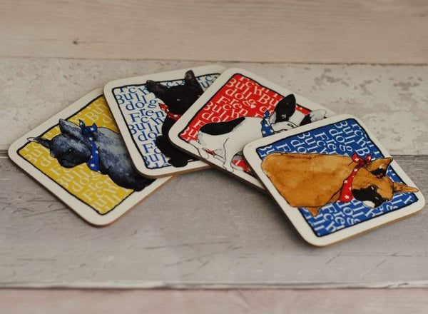 Coasters French Bulldog Coaster set
