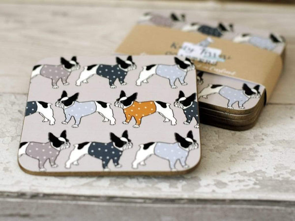 Coasters French Bulldogs Coasters Set