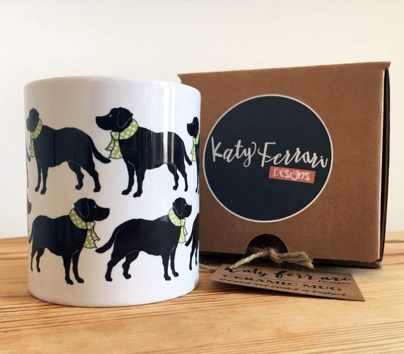 Mug Green Black Labrador Ceramic Mug