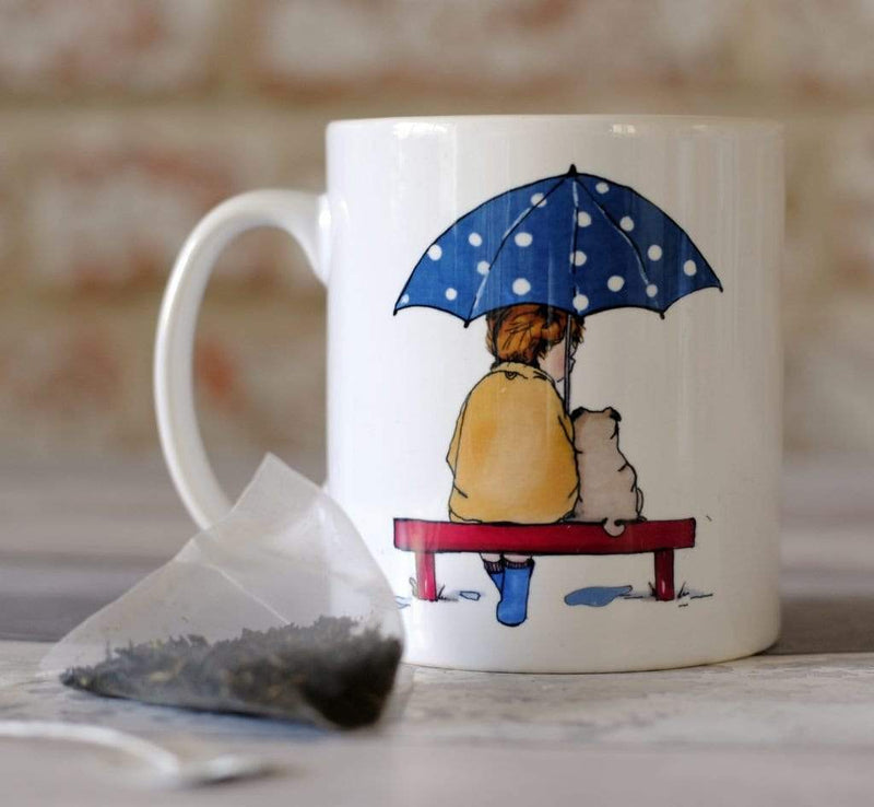 Mug Pug Ceramic Mug - Rainy Day