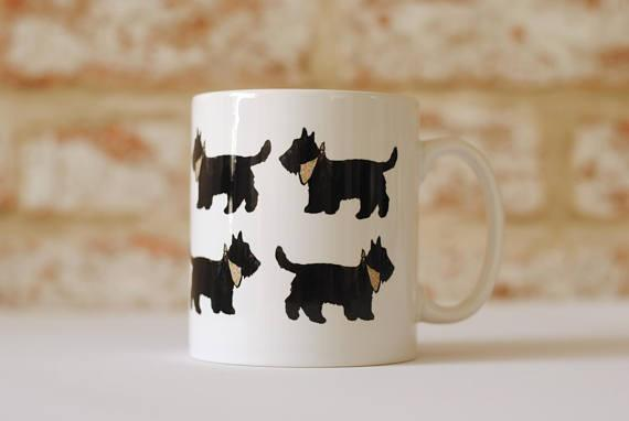 Mug Scottie Dog Mug and Coaster Collection