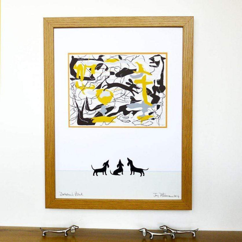 pictures Dachshund Pollock Print