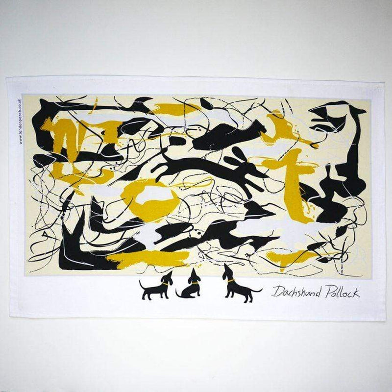 Tea Towel Dachshund Pollock Tea Towel