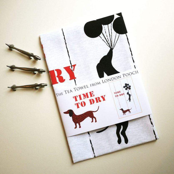 Tea Towel Dachshund Tea Towel Banksy Inspired