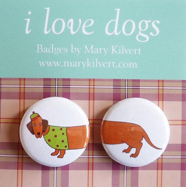 Badges I Love Sausage Dogs