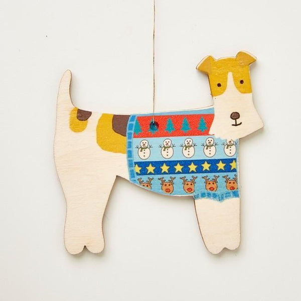 Decoration Mary Kilvert Fox Terrier Wooden Decoration