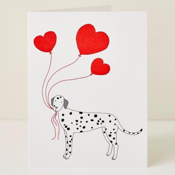 Greeting Card Mary Kilvert Dog Heart Greeting Card Dalmatian