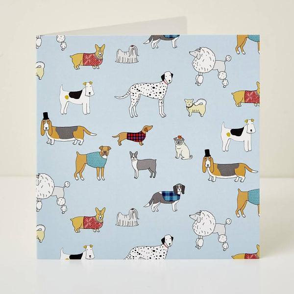 Greeting Card Mary Kilvert Dog Pattern Greeting Card