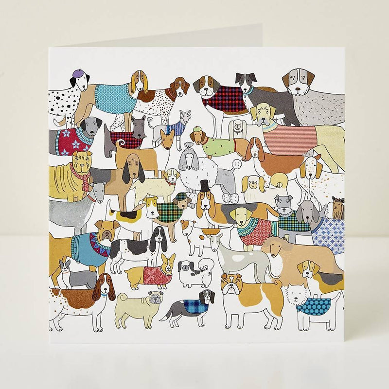 Greeting Card Pack of Pooches Greeting Card