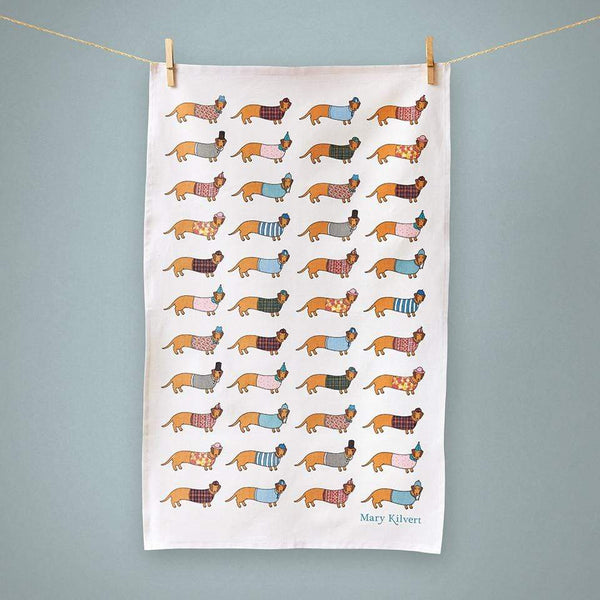 Tea Towel Larry the Sausage Dog Tea Towel