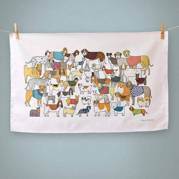 Tea Towel Pack of Proud Pooches Dog Themed Tea Towel