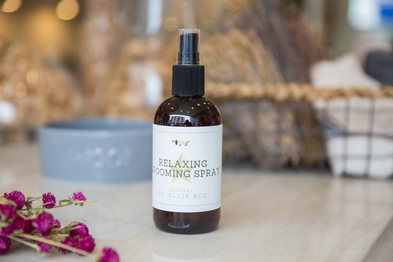 Dog Grooming Calming & Relaxing Grooming Spray For Dogs with Lavender Oil by Ollie & Co