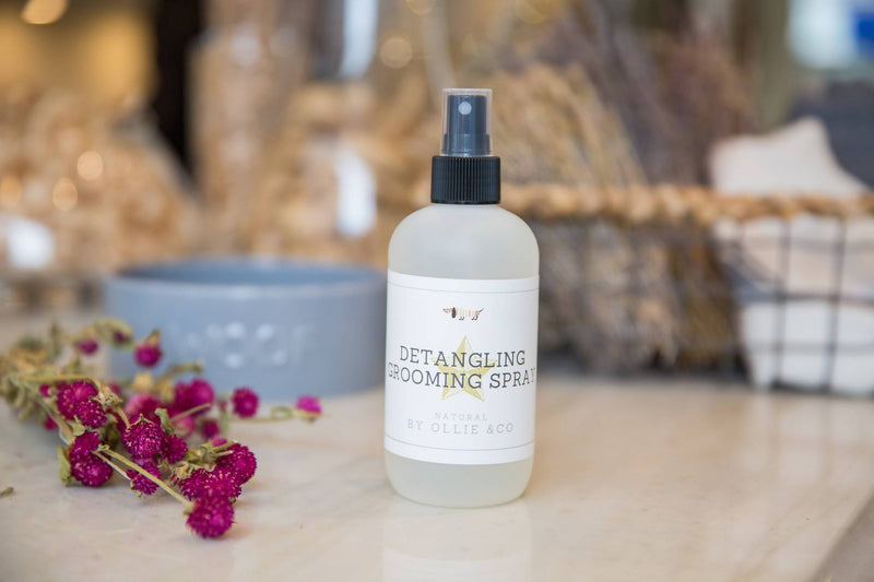 Dog Grooming Detangling Grooming Spray With Wheat Protein, Conditioning Active & 5 Vitamins by Ollie & Co