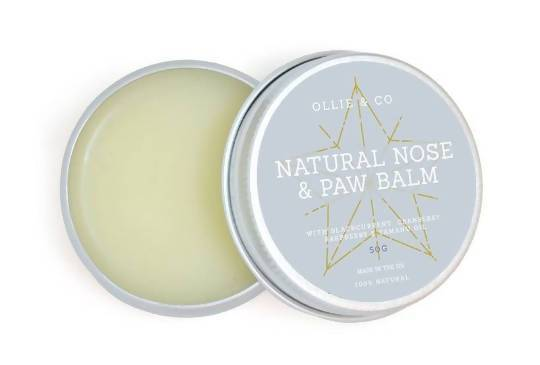 Dog Nose & Paw Balm with Raspberry & Tamanu Oil Natural Nose & Paw Balm - 50ml with Shea Butter and Sweet Almond Oil for Rich Conditioning