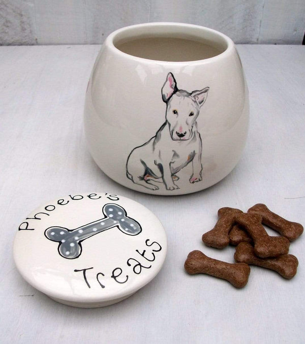 Dog Treat Jar Personalised Dog Portrait Treat Jar