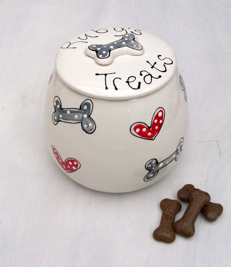 Dog Treat Jar Personalised Dog Treat Jar