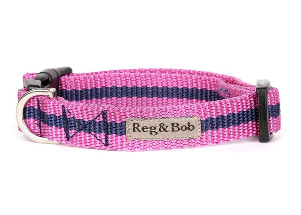 Pink dog collar and lead set