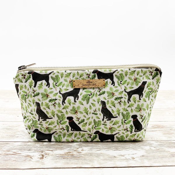 Cosmetic Bag Black Labrador Cotton Cosmetic Bag