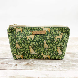 Cosmetic Bag Golden Labrador Cotton Cosmetic Bag