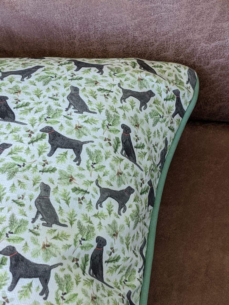 Cushion Cover Black Labrador Cushion Cover